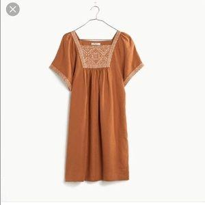 66348e8f8db Madewell Dresses - Madewell Wander Linen Dress I m Burnt Orange